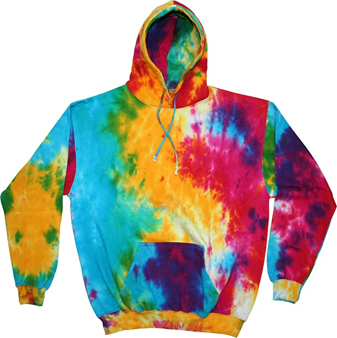a41ae077a Tie Dye Colortone Adult Spider Hood