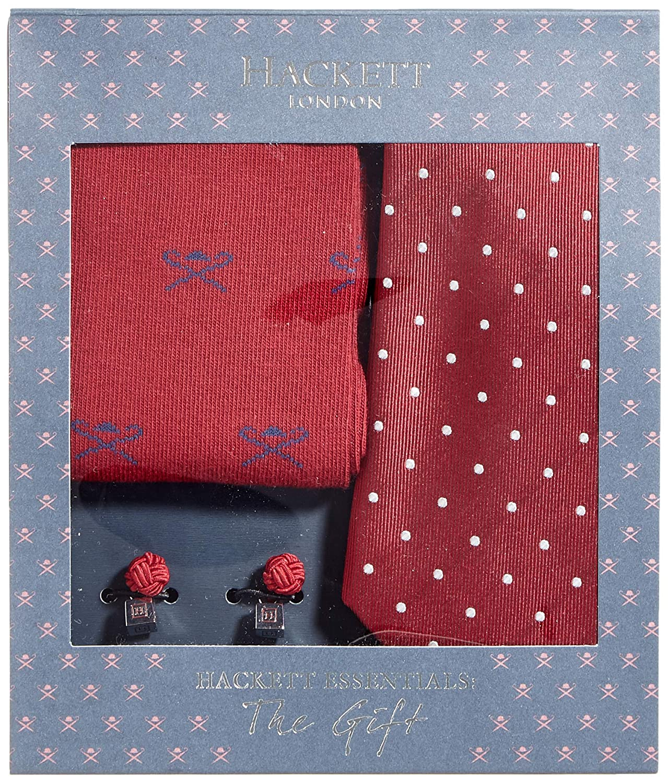 Hackett Sck Tie Cuf Dot Conjunto de corbata, (Burgundy 299), Talla ...