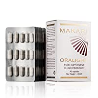 Makari Oralight 100% Drug-Free Skin Lightening Dietary Supplement – Melanin Blocking Regimen for Hyperpigmentation, Age Spots & Uneven Skin – 90 Softgel Capsules