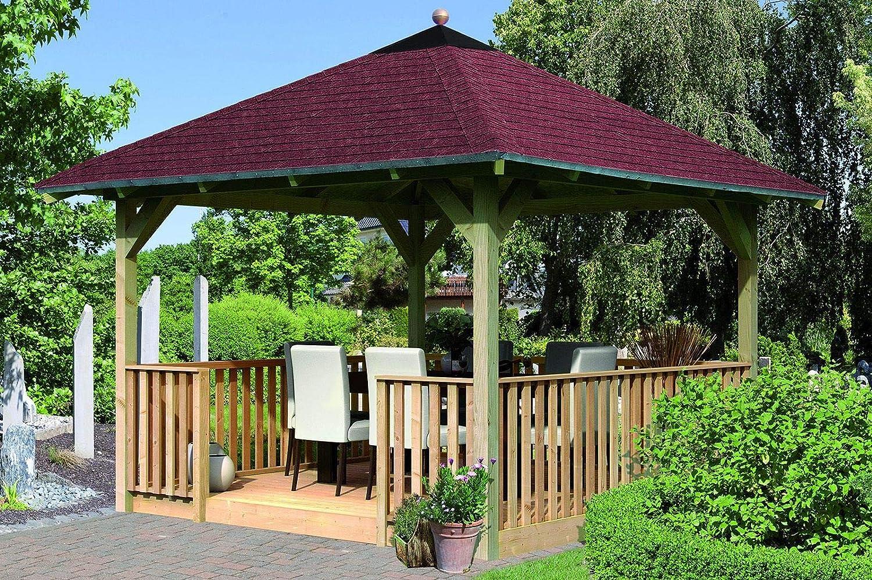 Karibu – 4 de esquina Carpa Eco Cordoba con brüstung Set: Amazon.es: Jardín