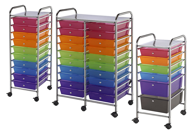 Amazon.com: Blue Hills Studio SC6MC Storage Cart 6 Drawer (Standard And  Deep) Multi Colored: Home U0026 Kitchen