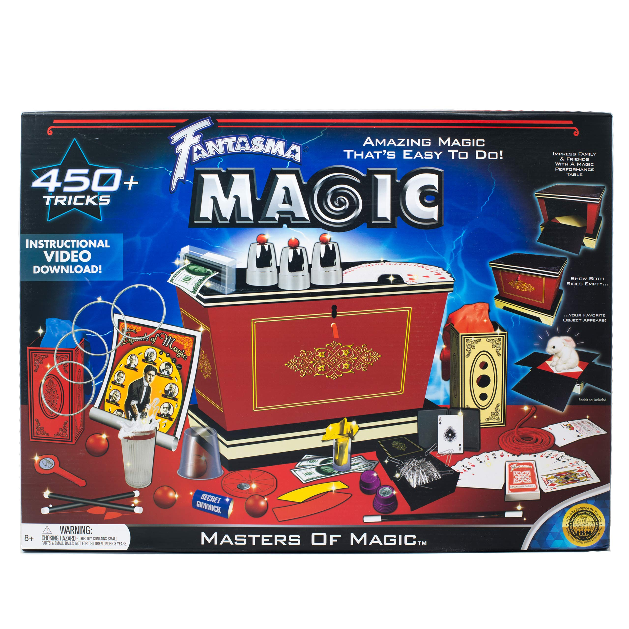 Fantasma Masters of Magic Set - Starter Magic Kit for Kids and Adults - Learn 450+ Magic Tricks - Boys and Girls Ages 8 and Older by Fantasma