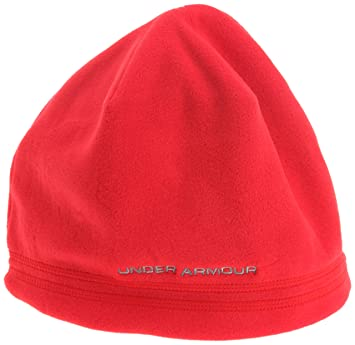 04ab5583e55 Under Armour Blustery Beanie Men s Hat red Size One size  Amazon.co ...