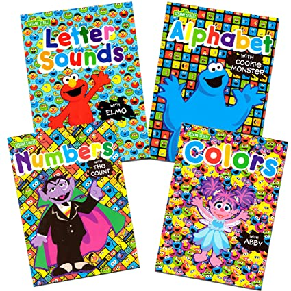 Sesame Street Workbooks Preschool Set Of 4 Alphabet With Elmo Letter