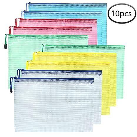 Amazon.com: Malla de plástico bolsas de cierre impermeable ...