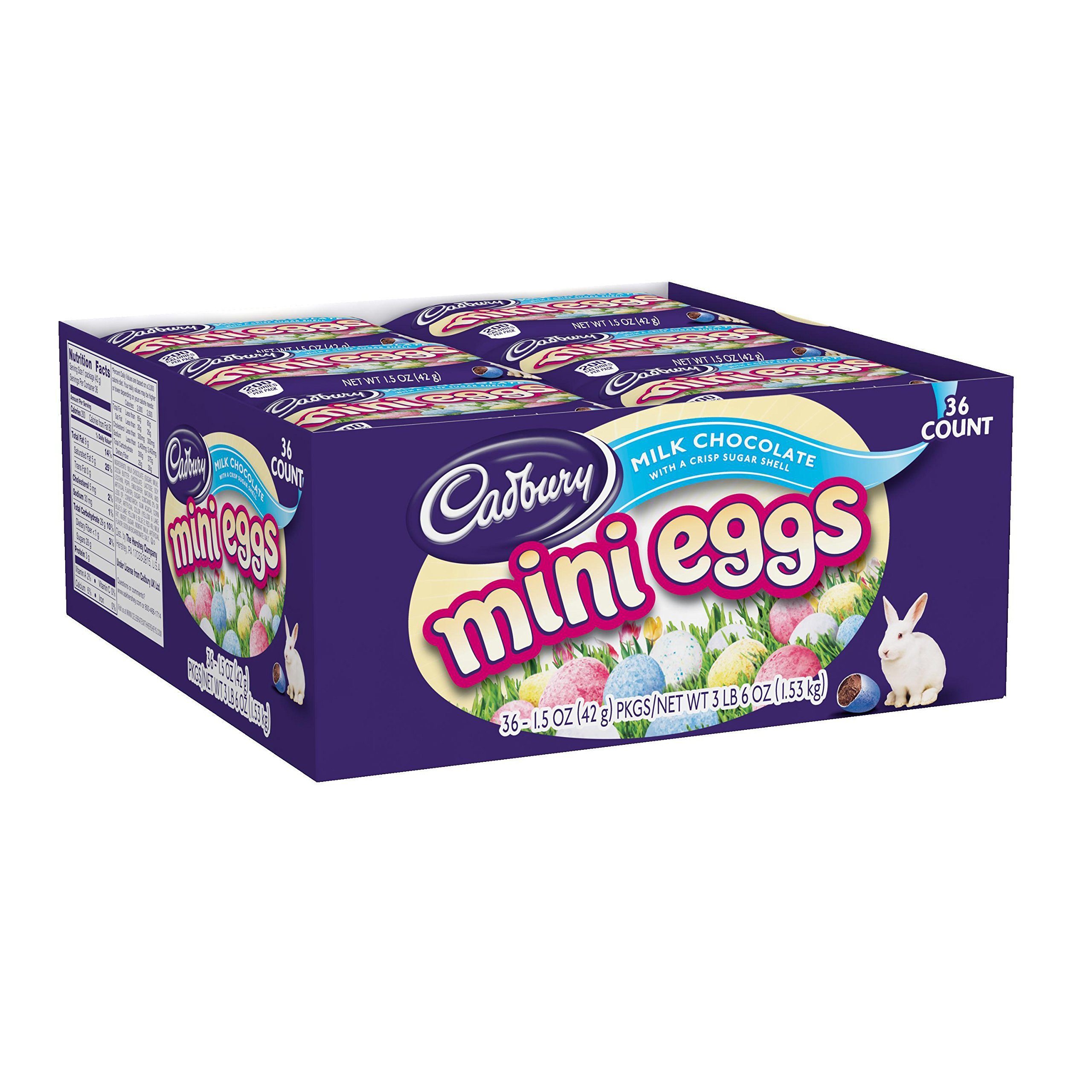 Cadbury Candy Coated Mini Eggs, 1.5-Ounce Packages (Pack of 36)