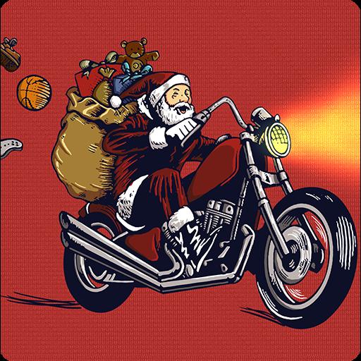 (Santa Motocross Action)