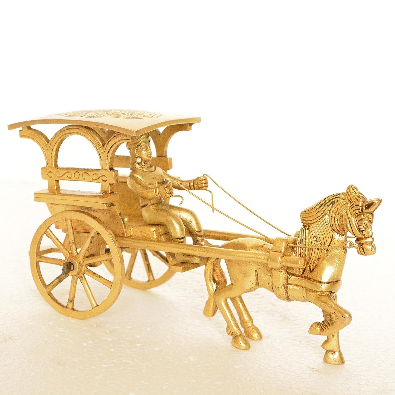 Amazon.com: Vintage Brass Carriage Horse Cart - Desk Showpiece/Metal ...