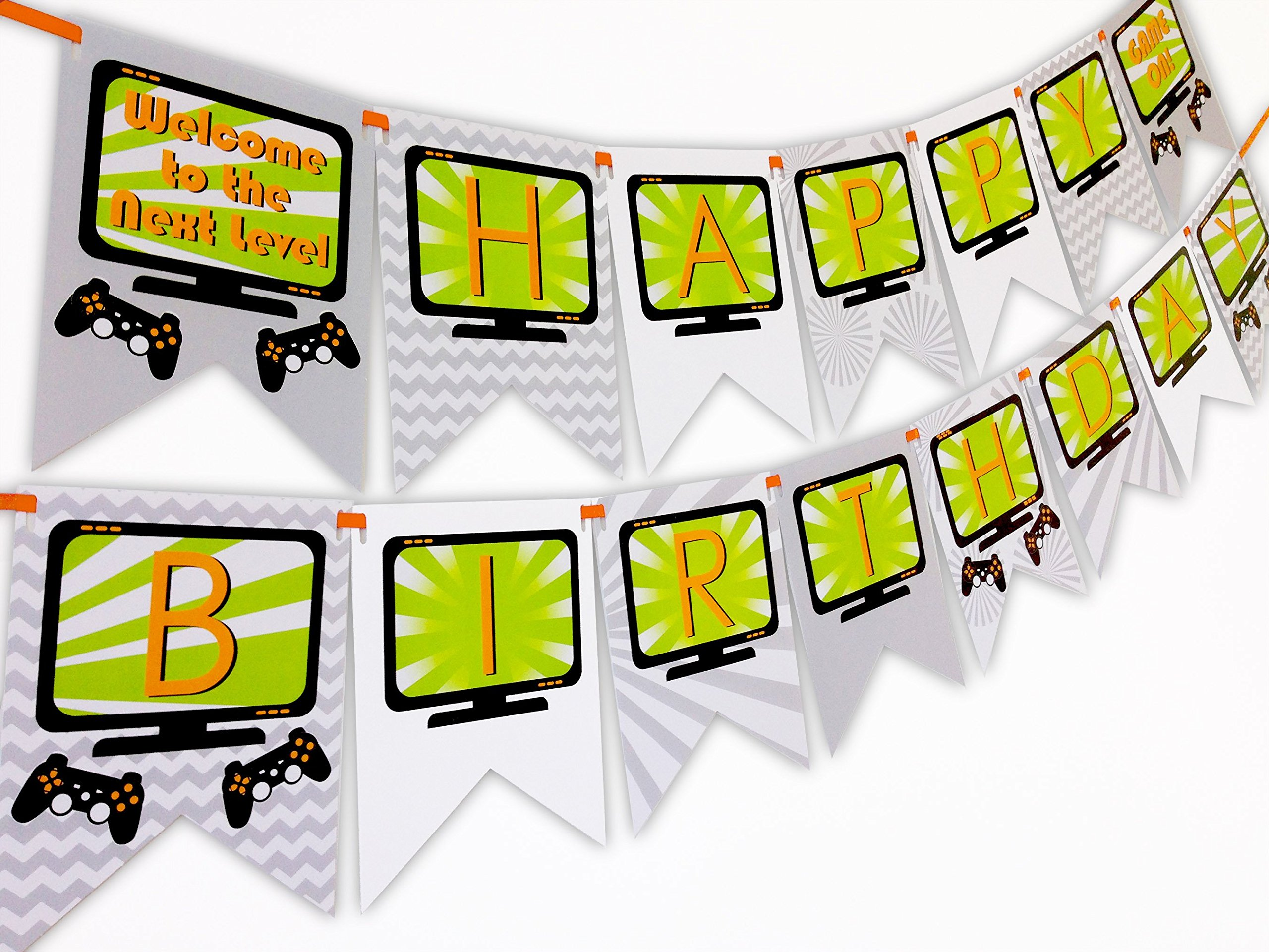 Gaming Party Happy Birthday Banner by POP parties