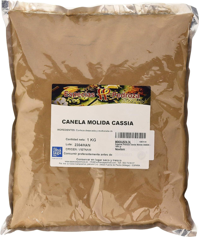 Especias Pedroza Canela Molida CASSIA- 1000 gr: Amazon.es ...