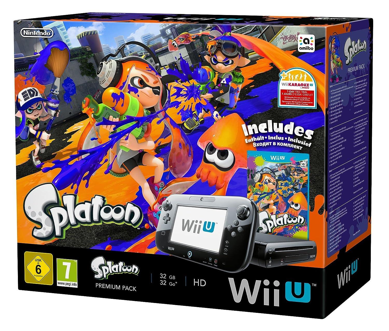Nintendo Wii U Premium Pack Schwarz Inkl. Splatoon ...