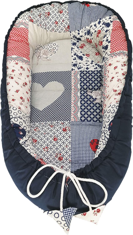 Reductor para reci/én nacidos 100/% algod/ón Patchwork Solvera/_Ltd Baby Nest saco de dormir para beb/é