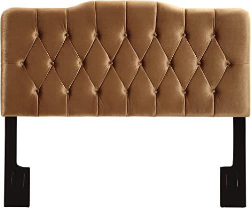 Pulaski Upholstered Soft Shape Headboard, King, Velvet Bronze
