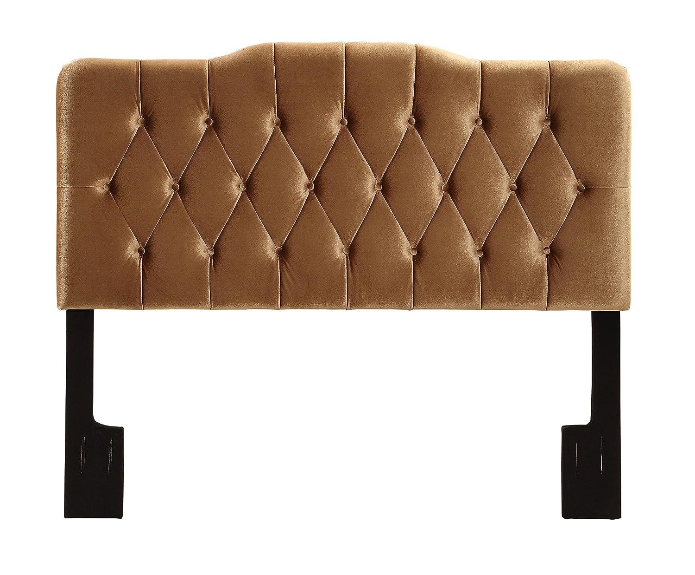Pulaski Upholstered Soft Shape Headboard, Queen, Velvet Bronze