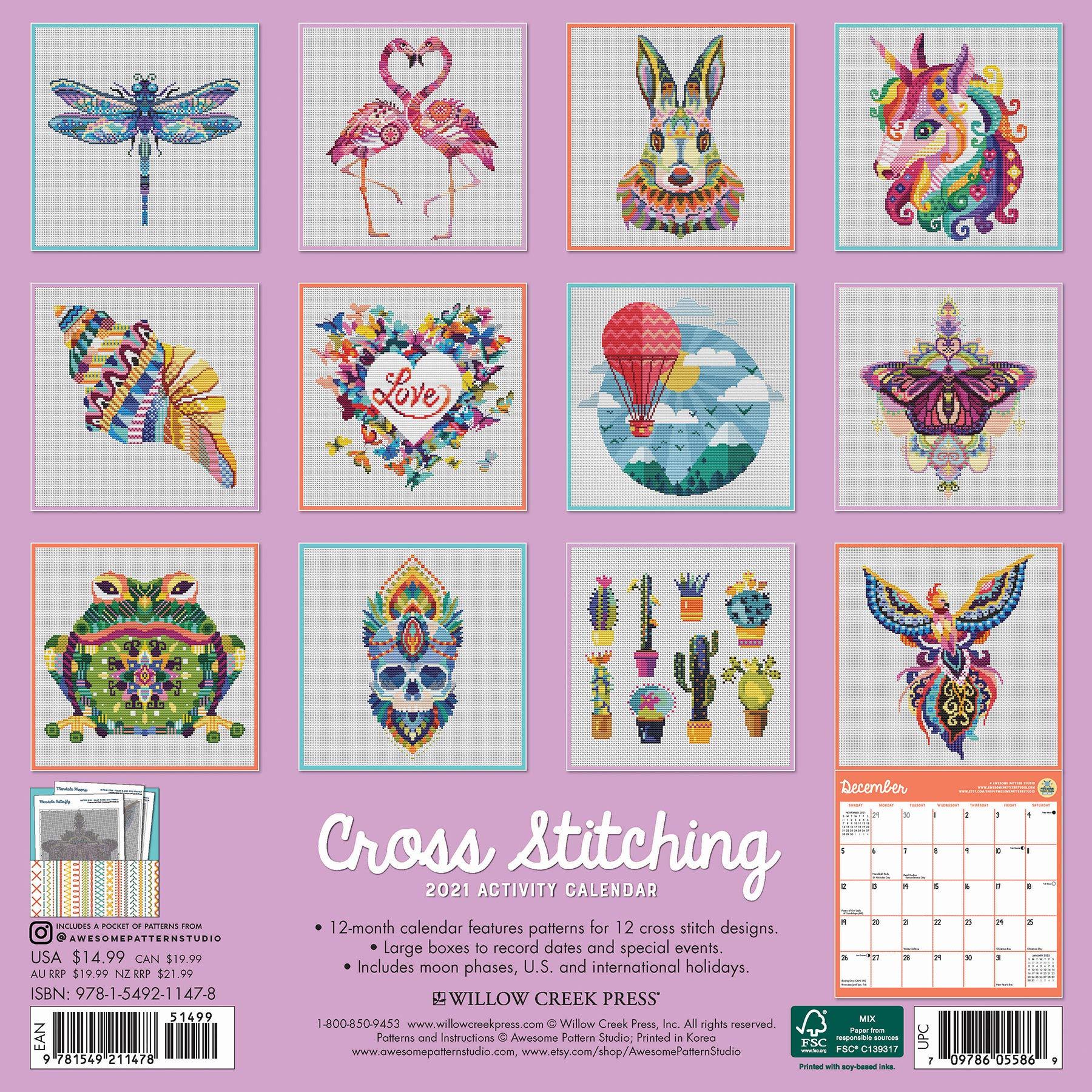 Keepsake Cross Stitch Calendar 2021 Wallpaper