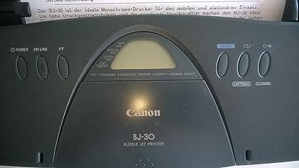 CANON BJ30 PRINTER WINDOWS 7 DRIVER DOWNLOAD