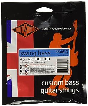 Rotosound RS66LN - Juego de cuerdas para bajo de níquel, 45 65 80 100: Amazon.es: Instrumentos musicales
