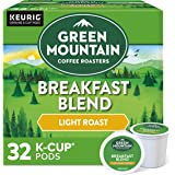 Green Mountain Coffee Roasters Breakfast Blend, Single-Serve Keurig K-Cup Pods, Light Roast Coffee, 32 Count