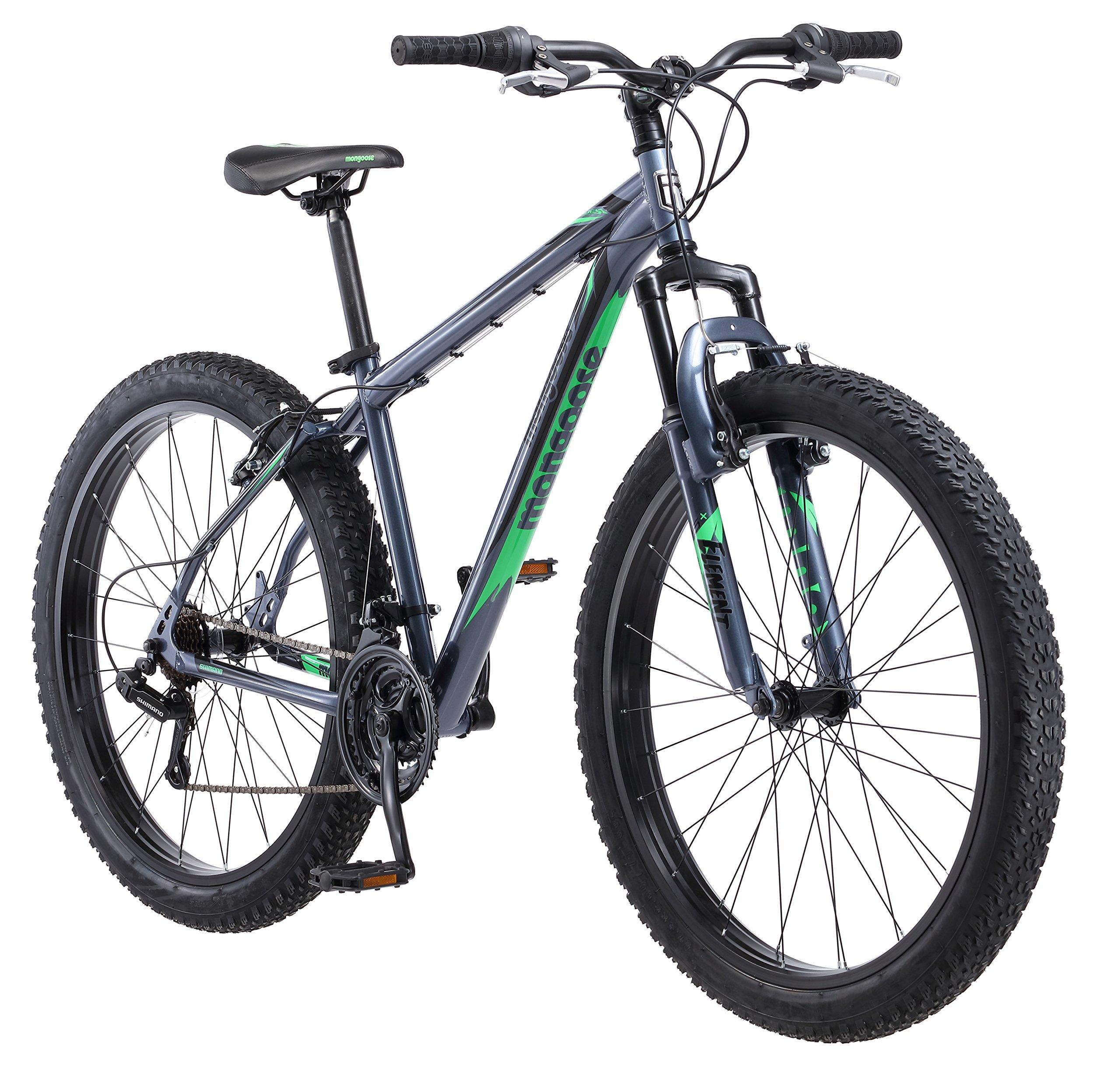 Mongoose Rader 27.5+ Men's 2.8'' Tire Fat Tire Bike Medium Frame Size Grey