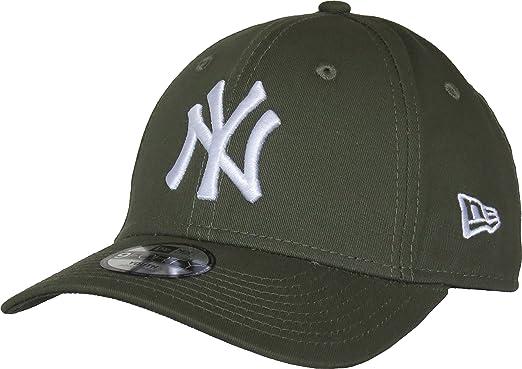 fd68e7f2c60a New Era Casquette Enfant 9FORTY League Essential New York Yankees Olive  Taille Enfant Ajustable