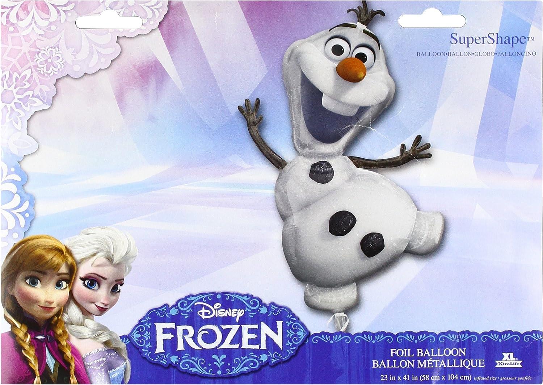 "41/"" Disney Frozen Olaf Supershape Jumbo Mylar Foil Balloon Party Decorating Supp"