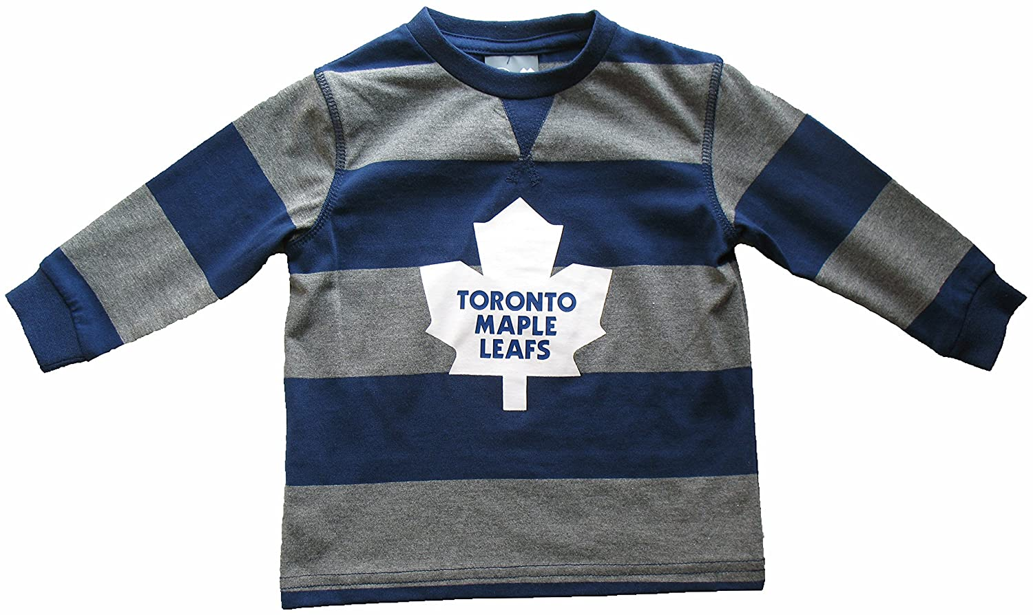 Toronto Maple Leafs Toddler Rugby Stripe Long Sleeve T-Shirt Mighty Mac