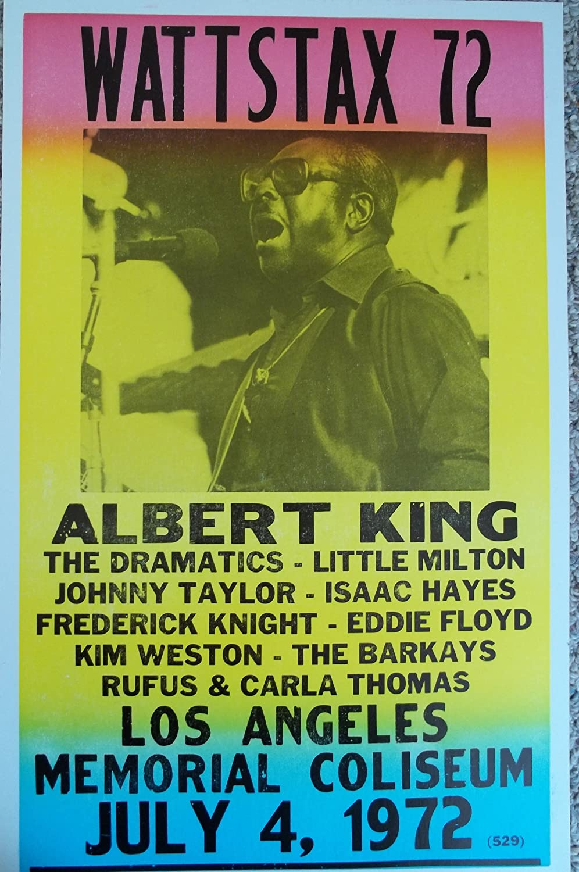Amazoncom Wattstax  W Albert King In Los Angeles Poster - Los angeles posters vintage