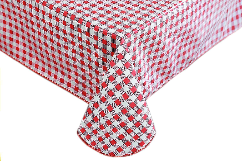Wachstuch Tischdecke Abwaschbar Eckig 140 x 180 cm Kariert Karo Gelb