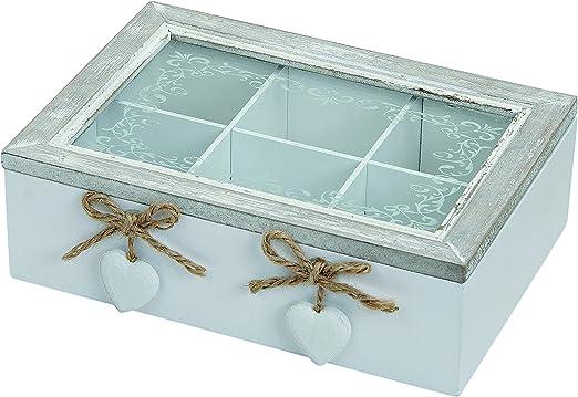 Caja de madera con tapa, caja decorativa y de almacenamiento.: Amazon.es: Hogar