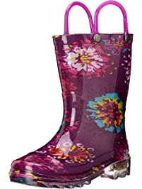 Western Chief Abstract Blooms Lighted Rain Boot