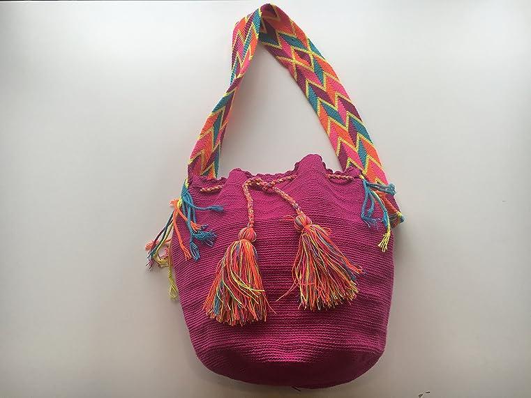 HANDMADE BAG, Mochila Wayuu crossbody - authentic from Colombia, Excelent HANDMADE BAG for gift.: Handbags: Amazon.com
