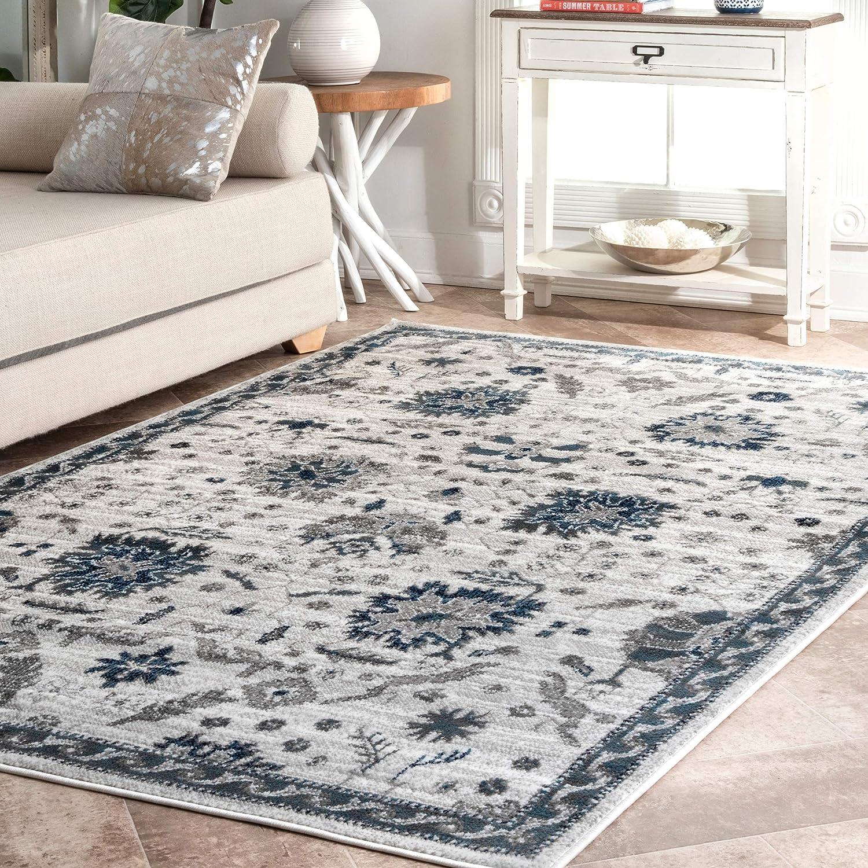 Amazon Com Nuloom Lilian Floral Area Rug 5 X 8 Ivory Furniture Decor