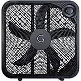 "Genesis 20"" Box Fan, 3 Settings, Max Cooling Technology, Carry Handle, Black"