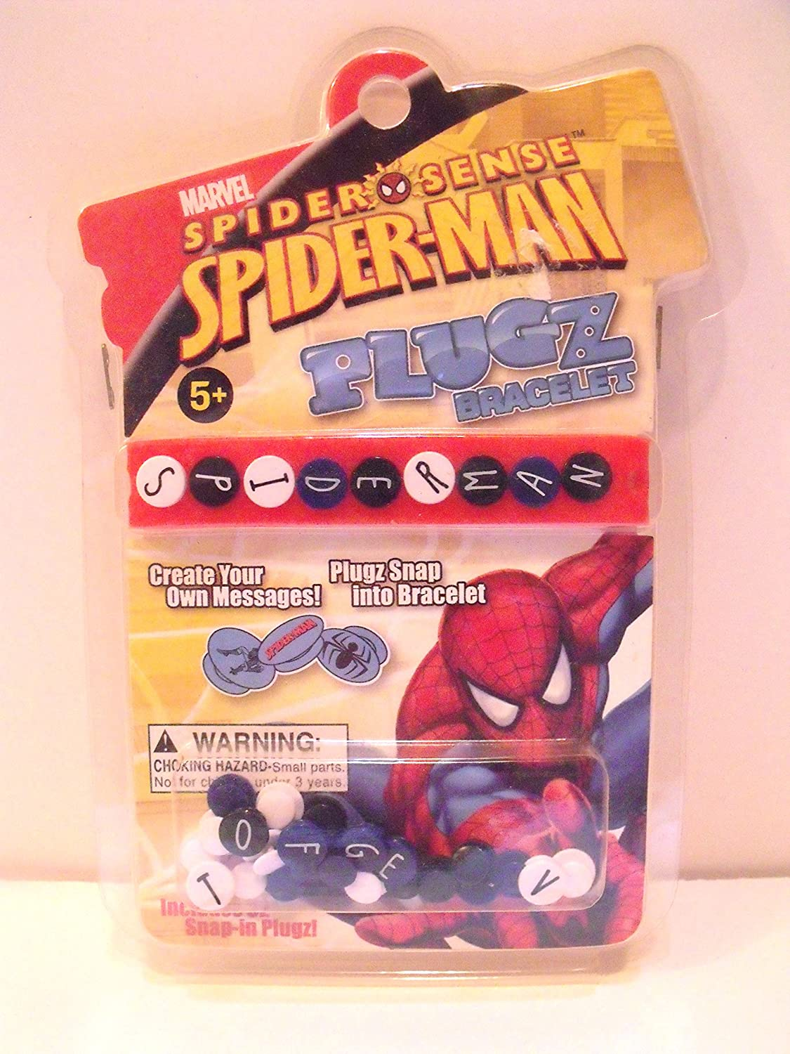Spiderman Plugz Snap Plastic Bracelet with Letters by Forever Collectibles