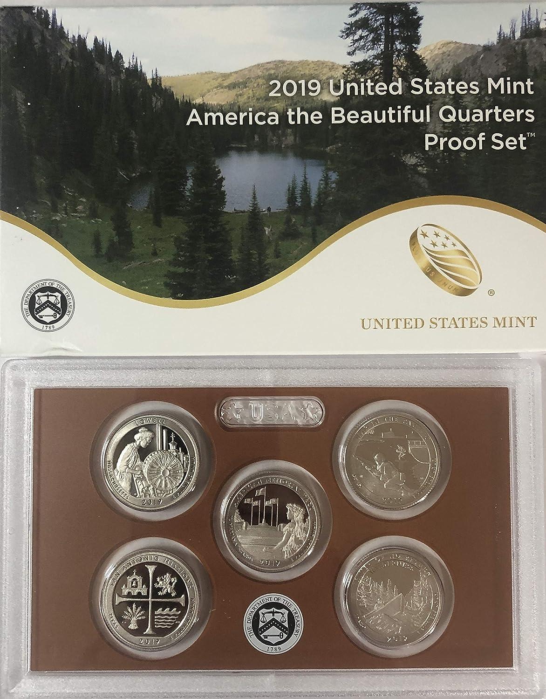 2018 US Mint America the Beautiful Quarters SILVER Proof Set COA /& Box