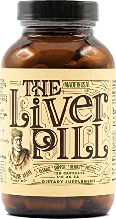 Medicine Man Plant Co.-The Liver Pill: Cleanse, Detox, Repair, Support Natural Health - Milk Thistle Extract, Burdock Root, Flaxseed, Rosemary Antioxidants - 120 Daily Organic Herbal Capsules