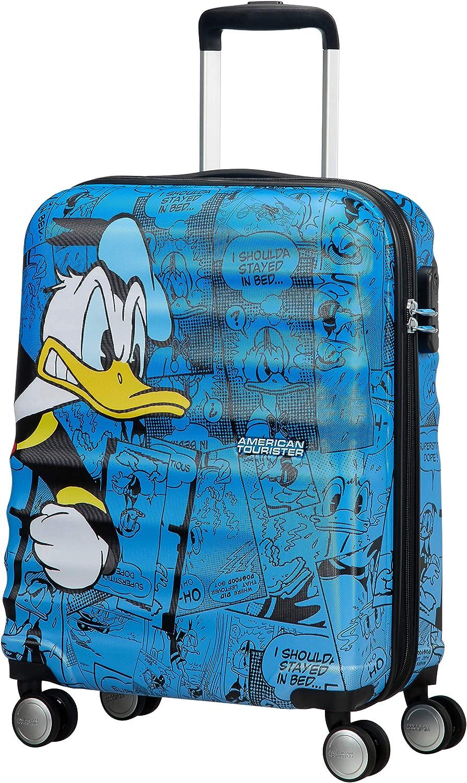 American Tourister Disney Wavebreaker - Maleta Infantil, Spinner S (55 cm - 36 L), Azul (Donald Duck)
