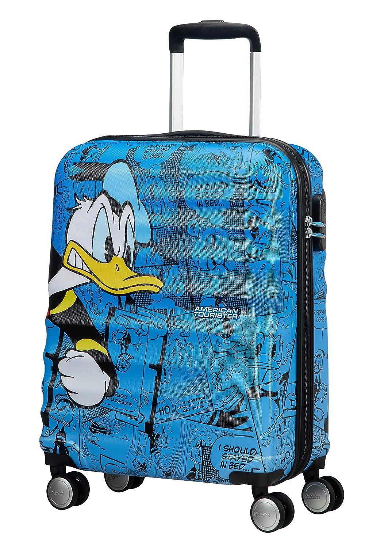 American Tourister – Disney Wavebreaker – Spinner 55 20 Hand Luggage, 55 cm, 36 liters, Multicolour Donald Duck