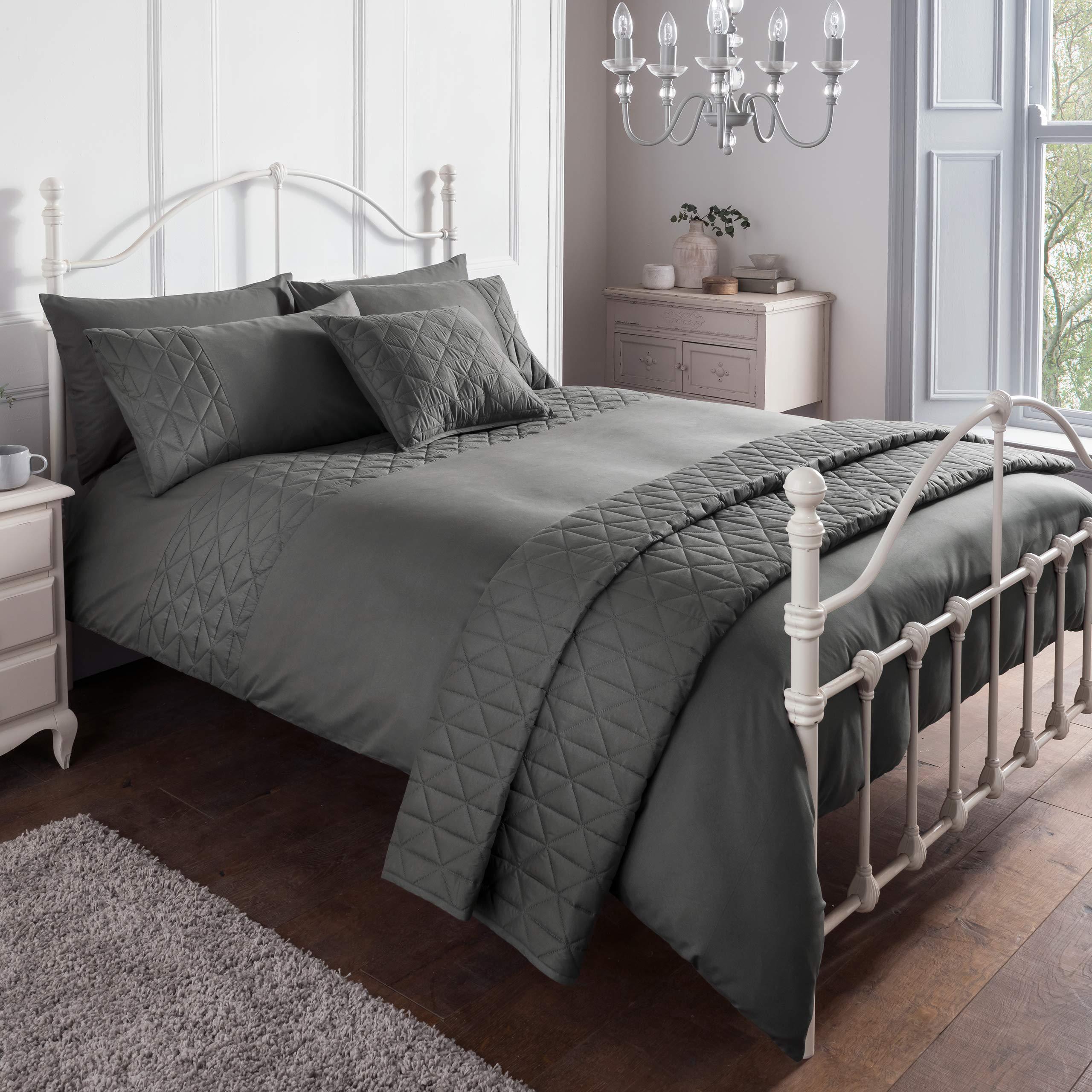 Pillowcase Sleepdown Pintuck Luxury Cotton Duvet Quilt Cover Bedding Set
