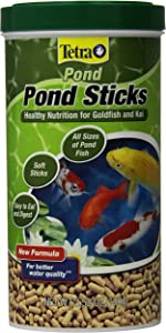TetraPond Pond Sticks 3.53 Ounces, Pond Fish Food, For Goldfish And Koi, Tetra Pond Pond Sticks, Healthy Nutrition for Goldfish and Koi