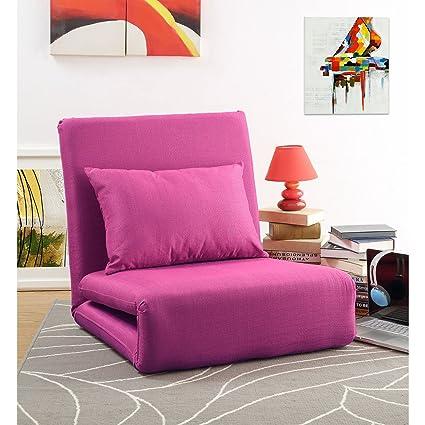 Amazon.com: Loungie Relaxie Pink Linen Flipchair - 5-Position ...