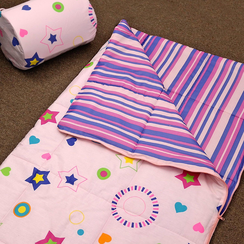 Veratex Star Dance Collection Children's Slumber Party Space Pattern Bedroom Sleep Over Bag, Pink