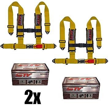 """STVMotorsports 4 Point Shoulder Harness Set - 2"""" Pads - Universal"""