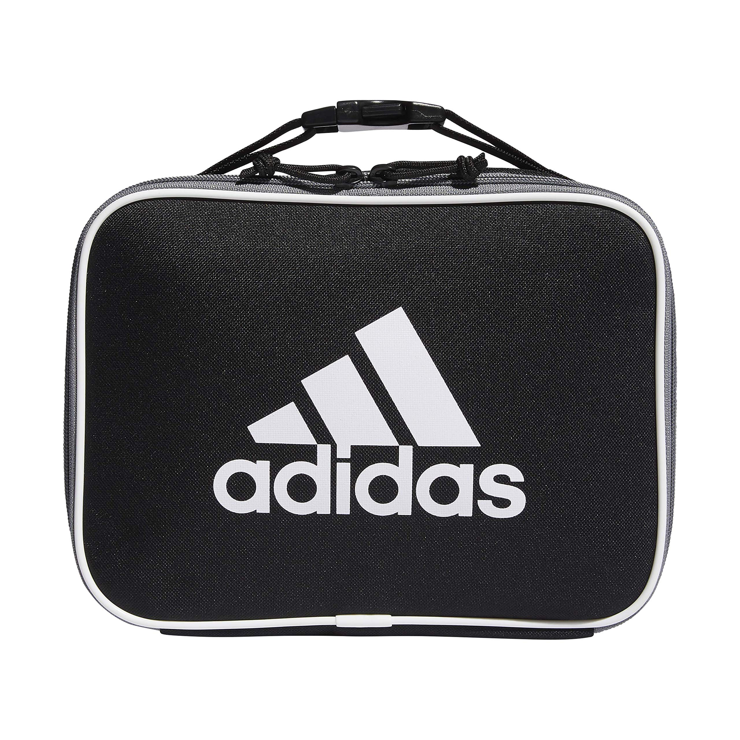 adidas Unisex Foundation Insulated Lunch Bag, Black/White, ONE SIZE by adidas
