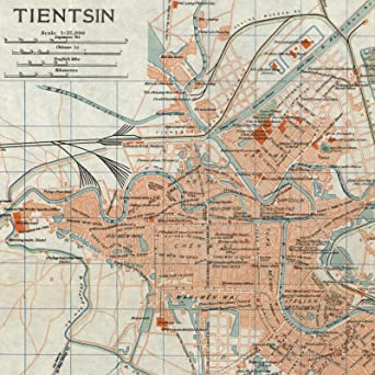 Amazon tientsin tianjin china chinese c1923 scarce detailed tientsin tianjin china chinese c1923 scarce detailed city plan old map gumiabroncs Image collections