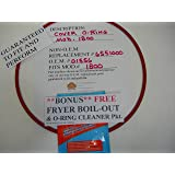 """1ea.COVER O-RING FITS BROASTER MOD.1800 (ROASTER'S OWN SELLS ONLY F.D.A. GRADE O-RINGS, """"NOT FOAM"""" ) (With FREE Fryer Boil Out O-Ring Cleaner Pkt.) 12"""" INSTALLED DIA. FOODSERVICE GRADE."""