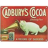 PLAQUE METAL 20X15cm PUB CHOCOLAT CADBURY's COCOA CAT