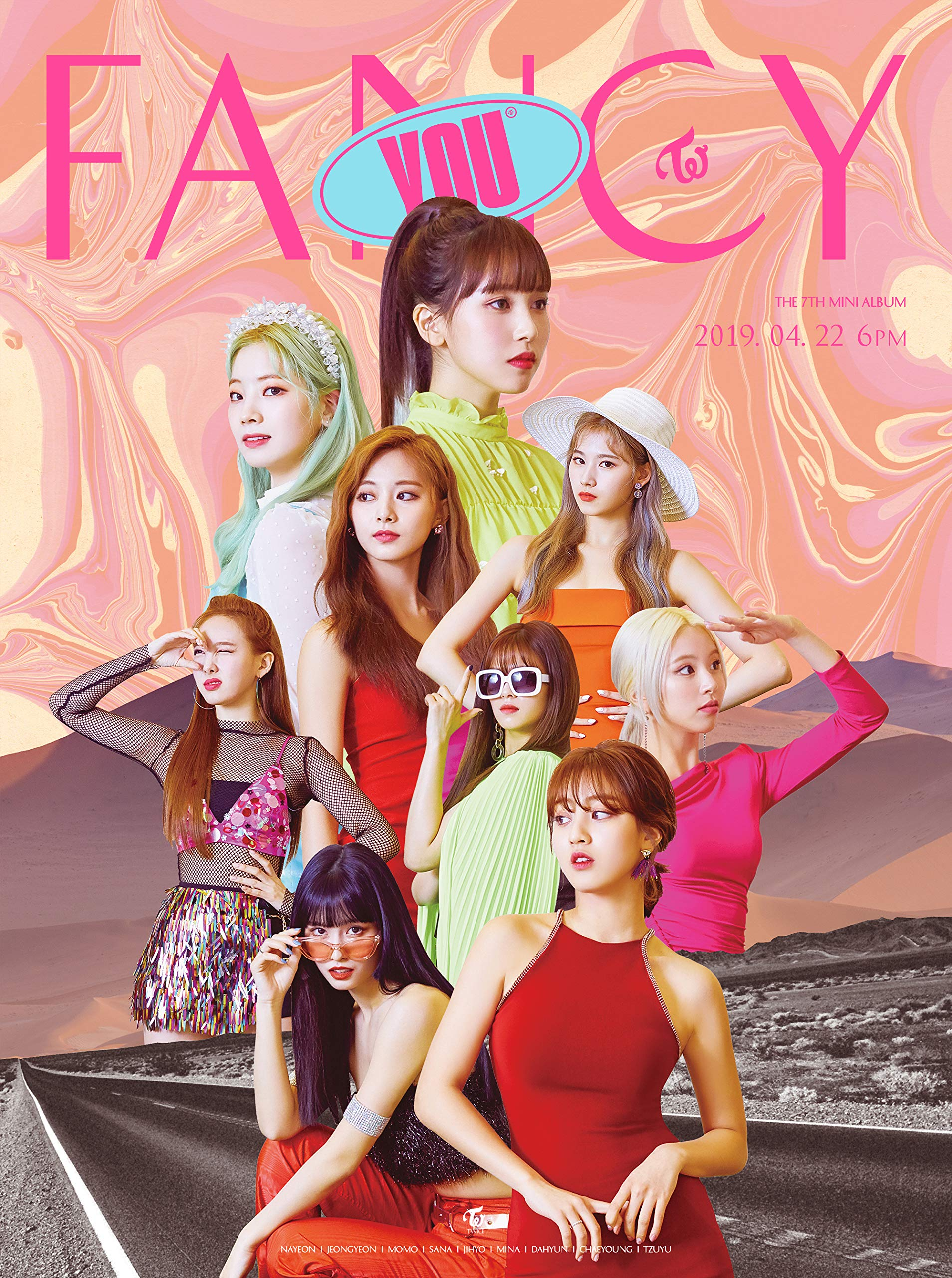Twice The 7th Mini Album 'Fancy You' [A+B+C ver. Set] - Pack of 3CD, 3Photobook, Photocards, 3Folded Posters with Pre Order Benefit, Extra Decorative Sticker Set, Photocard Set