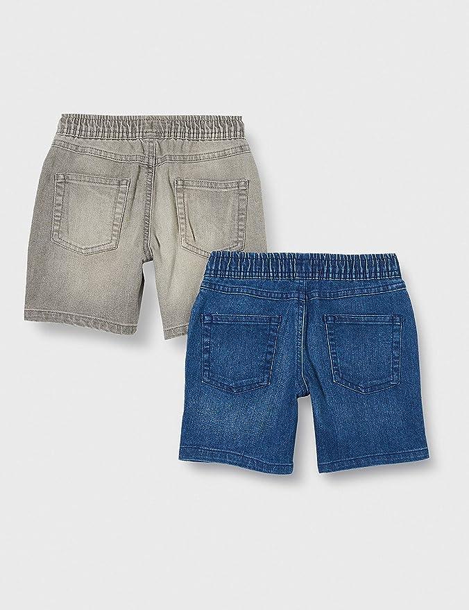EU 104-110 CM Spotted Zebra Confezione da 2 Pantaloncini Elasticizzati in Denim Shorts Camo//Indaco