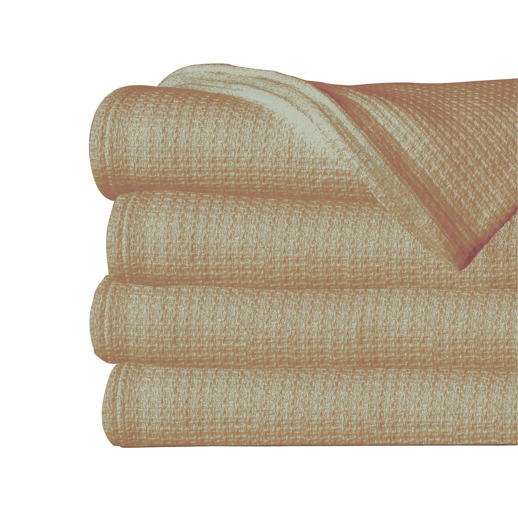 Sun Yin USA Inc 100-Percent Twin Cotton Blanket, Taupe